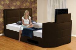 Buy Charlotte Superking Gas Lift Tv Bed Frame, Brown from our Super King Beds range - Tesco.com