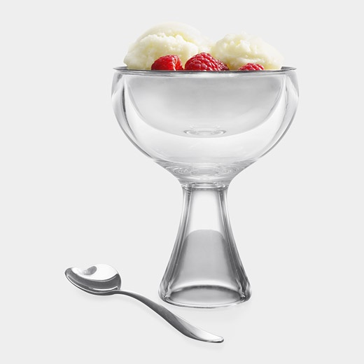 Big Love Ice Cream Bowl & Spoon by  Miriam Mirri for Alessi, 2002: Comes with a heart shaped spoon. $56. #Ice_Cream_Bowl #Alessi