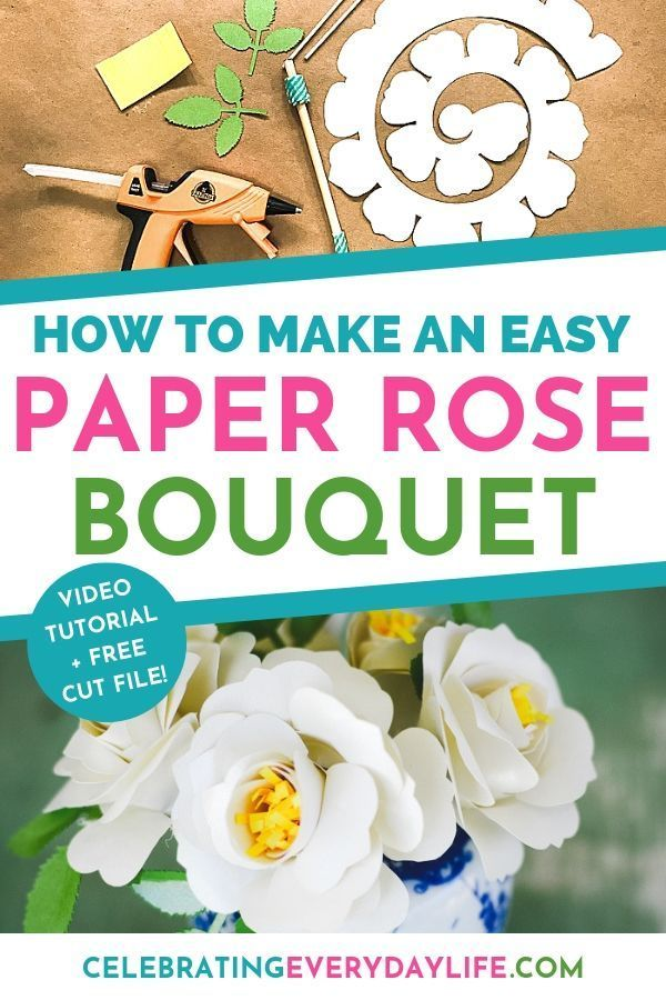 How To Make An Easy Paper Rose Flower Paper Flowers Diy Paper