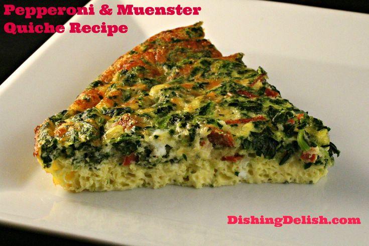 Pepperoni and Muenster Quiche | Recipe | Pepperoni, Quiche ...