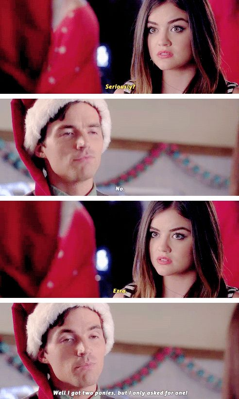 """PLL 5x13 sneak peak """"I'm afraid to ask what full on Christmas looks like at the Fitzgerald house."""""""