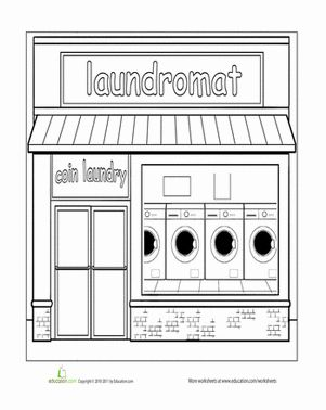 paint the town laundromat themes school coloring pages house colouring pages pattern. Black Bedroom Furniture Sets. Home Design Ideas