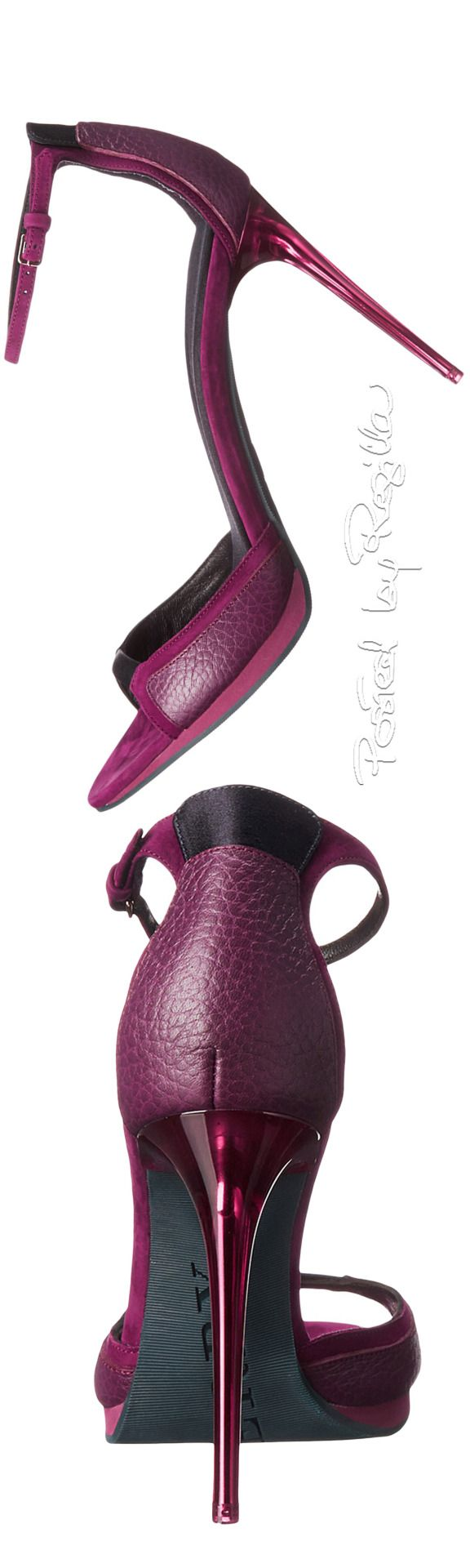 Burberry ~ Burgundy Leather Sandals....Uploaded By www.1stand2ndtimearound.etsy.com
