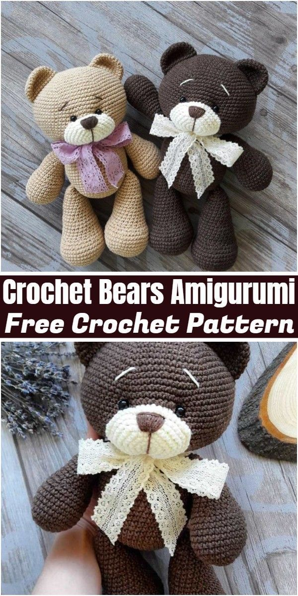 20+ Free Crochet Teddy Bear Patterns ⋆ Crochet Kingdom | 1200x600