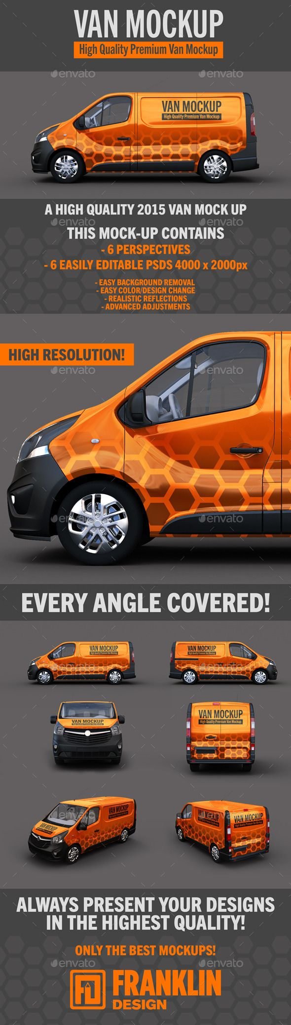 Van Mockup #psd • Click here to download ! http://graphicriver.net/item/van-mockup/13018907?s_rank=134&ref=pxcr