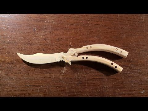 49) How to make the CS:GO butterfly knife! - Free templates
