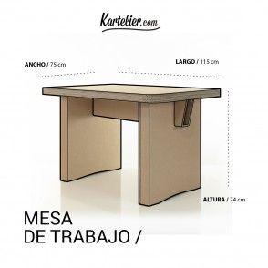 Kartelier | Muebles de cartón - Mesa de trabajo en cartón