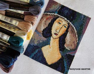 нескучное занятие: Модильяни от РТО. Портрет девушки в шляпе.