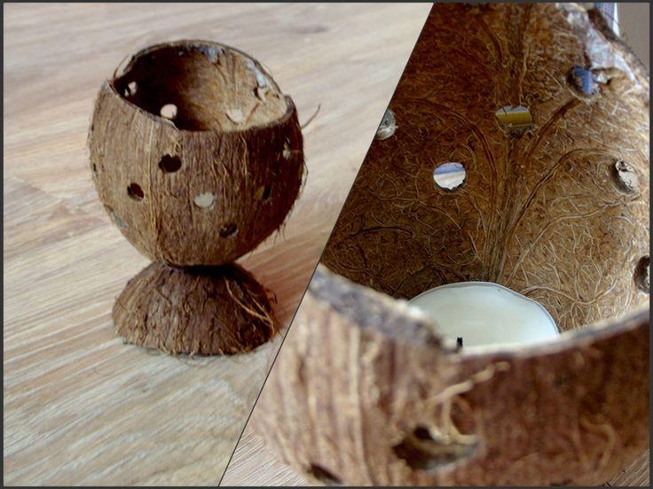 Kreatywnym Okiem: Jak zrobić świecznik z kokosa?