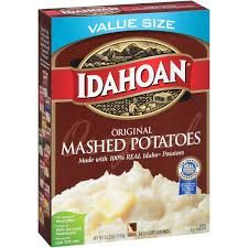 Image result for instant potatoes box