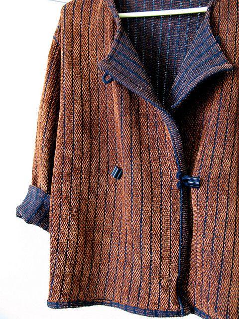 knitweave reversible jacket: wool/rayon & chenille by aida.berkovitz, via Flickr