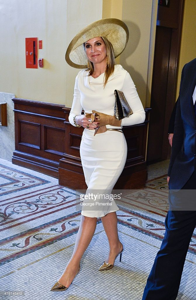 Queen Maxima of The Netherlands visits Queen's Park during state visit to Canada on May 29, 2015 in Toronto, Canada.