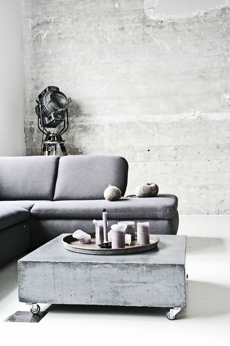 concrete, grey could cover with old homestead gray wood and put acrylic over  and casters on.