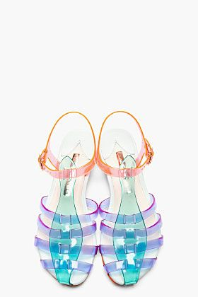 SOPHIA WEBSTER Purple & Green Colorblocked Violeta Sandals [jellys!]