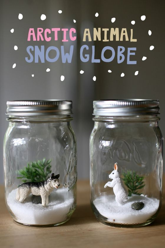 Vacation Bible School Crafts For Kids Part - 48: Snow Globe Science: Arctic Animals. Kids DiyKids CraftsFor KidsBible ...