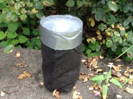 A mosquito trap from a soda bottle.