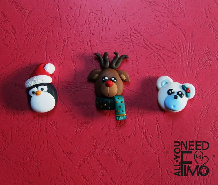 Christmas fimo magnets with animals, now in my Etsy Shop! INFO: https://www.facebook.com/AllYouNeedIsFimo/photos/a.937250929688782.1073741828.932013750212500/1190997870980752/?type=3&theater \/ #fimo #polymerclay #artigianato #fattoamano #handmade #accessories #accessori #animals #animali #calamita #magneti #magnets #christmas #christmasgift #christmasgiftideas #giftideas #idearegalo #etsy #allyouneedisfimo #epiconetsy #bear #penguin #reindeer #orsopolare #renna #pinguino #fridgemagnet