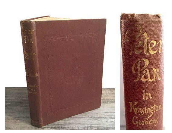 Vintage Peter Pan in Kensington Gardens #Book #PeterPan #KensingtonGardens #Classicbook #PeterPanBook #VintageBook #PeterPaninKensingtonGardens #Etsy