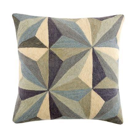 Grey Prismatic Square Cushion