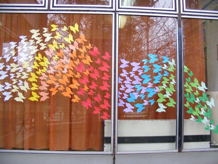 Butterfly flood in the library in Szarvas Pillangó özön a szarvasi Könyvtárban