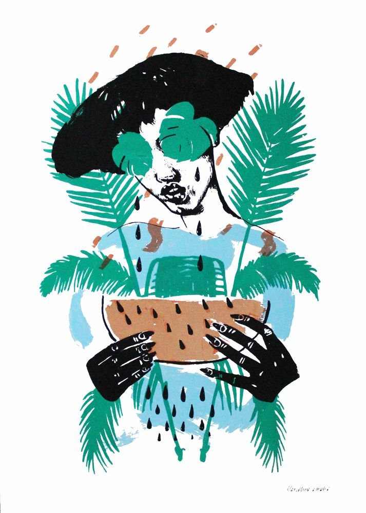 Tropicana - Copper edition by Marcelina Amelia is new to our online gallery! Available now £145 unframed and FREE UK SHIPPING