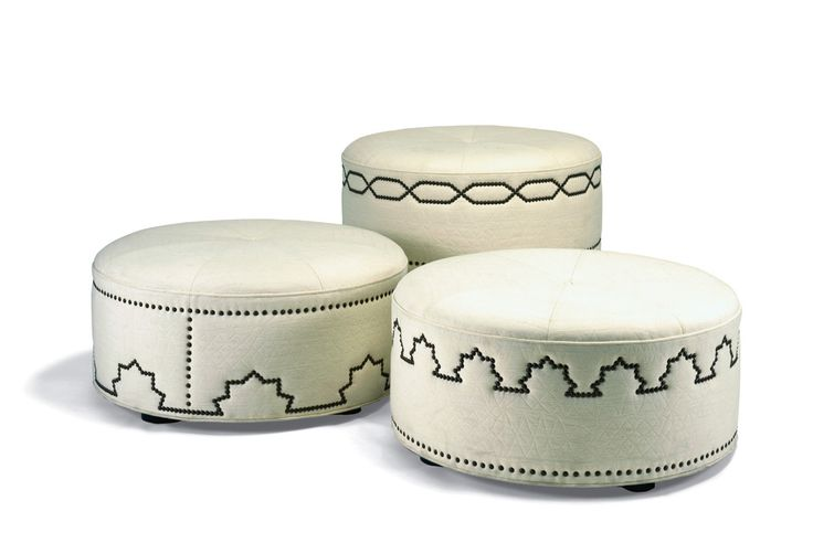 Tangier Hassocks - Ottomans and Poufs - Seating - Furniture - Dering Hall.  Please contact Avondale Design Studio for more information on any of the products we highlight on Pinterest.