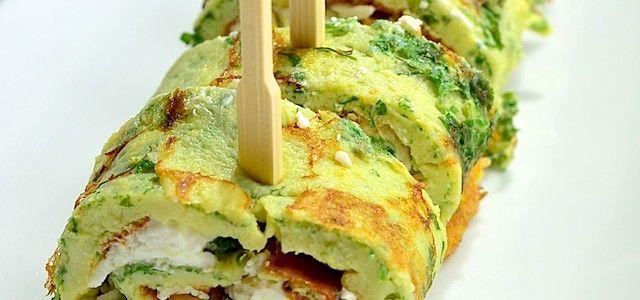 Omelet rolletjes | Uit Paulines KeukenUit Paulines Keuken