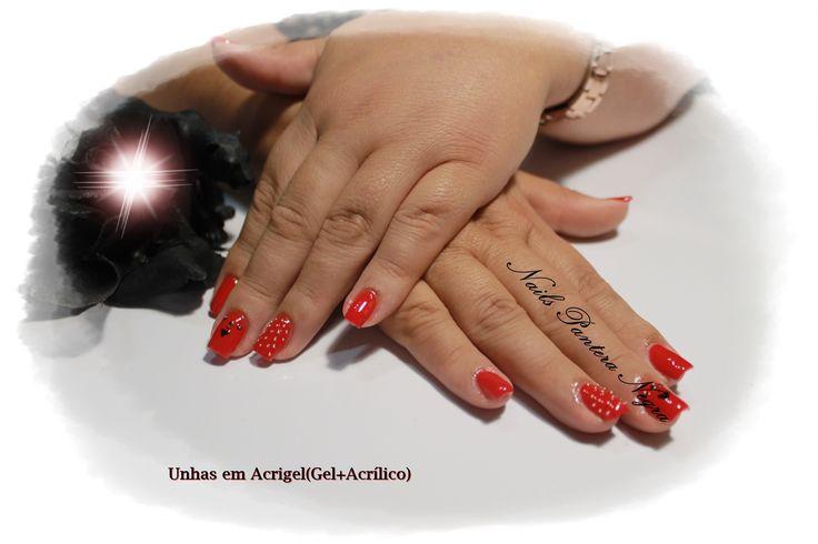 Unhas em Acrigel em cor vermelho Ferrari com nail art #caviar#love#Paint#  🌸 Aplicação Unhas de Gel , Acrílico, verniz gel, Acrigel e Hidratação de parafina!🌸 https://youtu.be/yaH-hQHDgIY ▫️ Aspecto Natural ✔️ ▫️ Resistência e durabilidade ✔️ ( Trabalho apenas por marcação ) APÓS LABORAL: Horários: Segunda-feira a Sexta-feira :das 17.30h ás 24h E também Sábados das 13h ás 24h E Domingos das 9h da manhã ás 24h. Marca comigo 📞