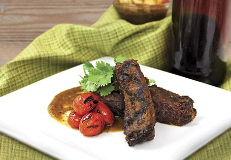 Sweet and spicy Jalapeño Honey Ribs. Getting hungry for a summer BBQ!