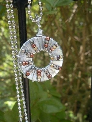 beaded washer necklace $25 by sonya