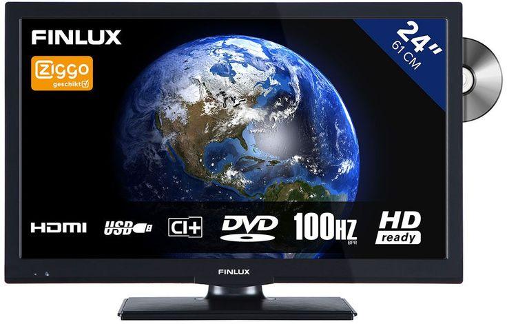 Finlux FLD2422  Description: Finlux FLD2422: Alles is mogelijk met deze compacte TV Bij de Finlux FLD2422 staat het bekijken van veel externe media centraal. Het toestel heeft een ingebouwde DVD-speler maar ook voldoende aansluitingen voor USB-sticks laptops en andere media-apparaten. Zo kun je kijken wat je wilt op deze televisie. En wil je naar jouw favoriete TV-programma kijken? Dan gaat dit super eenvoudig omdat de Finlux FLD2422 UPC- en Ziggo-gecertificeerd is. HD Ready LED TV met dvd…