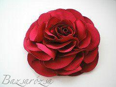 vörös, piros, Bazsarózsa, rózsa, kitűző