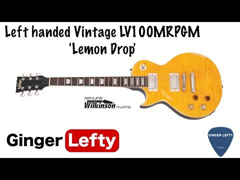 Left handed Vintage LV100MRPGM 'Lemon Drop' - YouTube