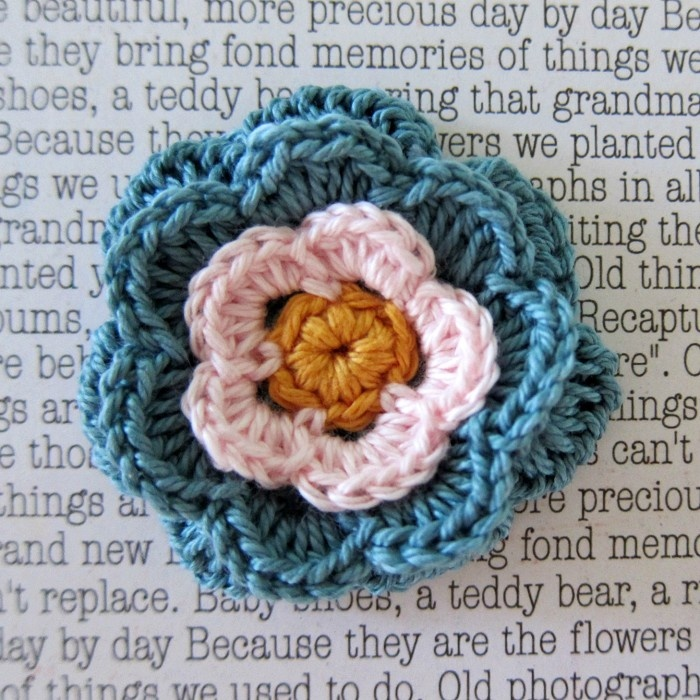 Cute flower pin