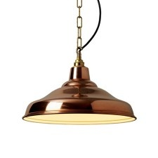 Gorgeous copper pendant light from Graham and Green http://www.grahamandgreen.co.uk/polished-copper-factory-school-light