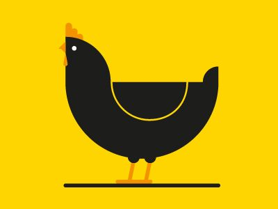 Dribbble - Chicken - Campaign Illustration by Mark Gamble