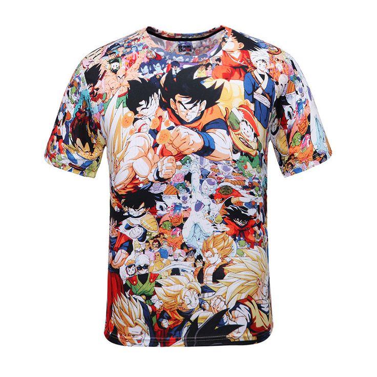 2016 bande dessinée d'été T Shirt hommes / femmes Anime T Shirt Dragon Ball drôle d'impression 3D T Shirt unisexe t   shirt décontracté T Shirt 3D Hombre dans T-Shirts de Hommes de Vêtements et Accessoires sur AliExpress.com | Alibaba Group