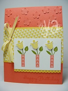 Summer Smooches!: Stamp Sets, Cute Cards, Blossoms Su, Happy Birthday, Cards Ideas, Cards Stampin, Su Bright, Summer Smooches, Bright Blossoms Birthday