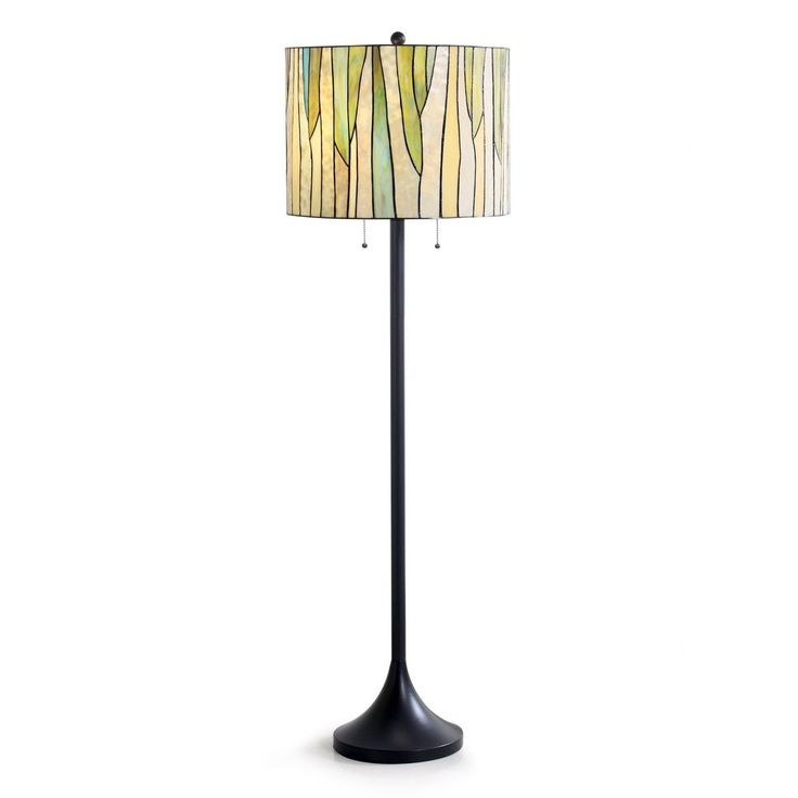 HomeTrend Barossa Oil-rubbed Bronze Metal Tiffany Floor Lamp with Glass Shade