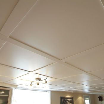 SnapClip Suspended Ceiling System - Flat Pure White