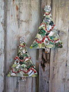 Mosaic Christmas trees!