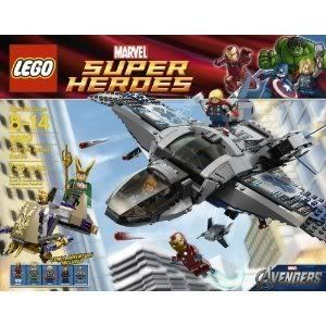 Toy / Game High-Tech Lego Quinjet Aerial Battle 6869 With Dual Flick Missiles And Control Platform F @ niftywarehouse.com #NiftyWarehouse #IronMan #Iron-man #Marvel #Avengers #TheAvengers #ComicBooks #Movies