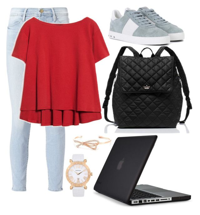 """""""School"""" by pitaa29 on Polyvore featuring Frame, Speck, Max&Co., Valentino, Kate Spade and Tiffany & Co."""