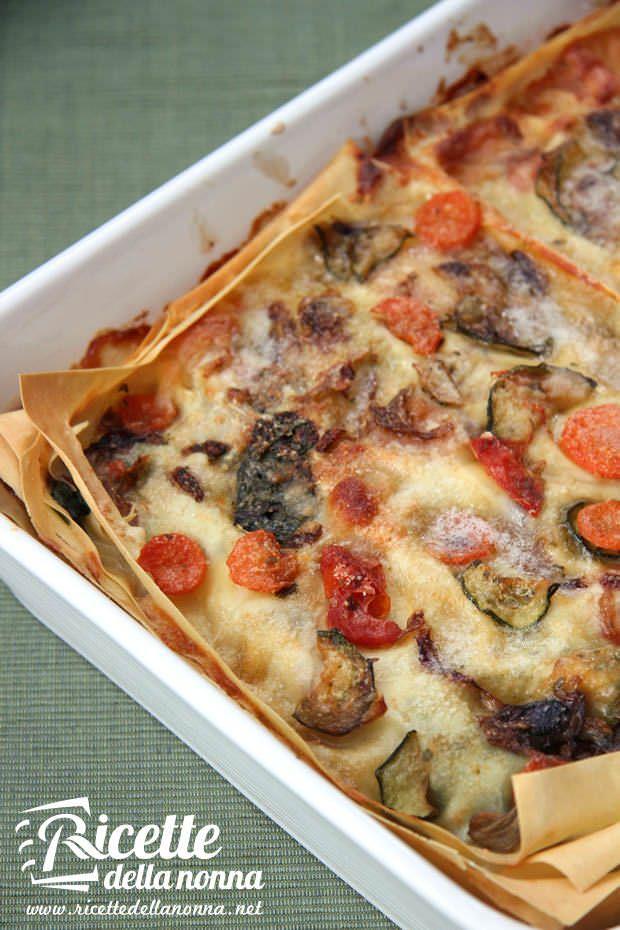 Lasagna vegetariana con zucchine e melanzane ricetta e foto