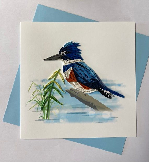 British Kingfisher Card Kingfisher Mosaic Art Birthday Card Kingfisher Art Bird Lover Card Kingfisher Art Mosaic Art Bird Art Print