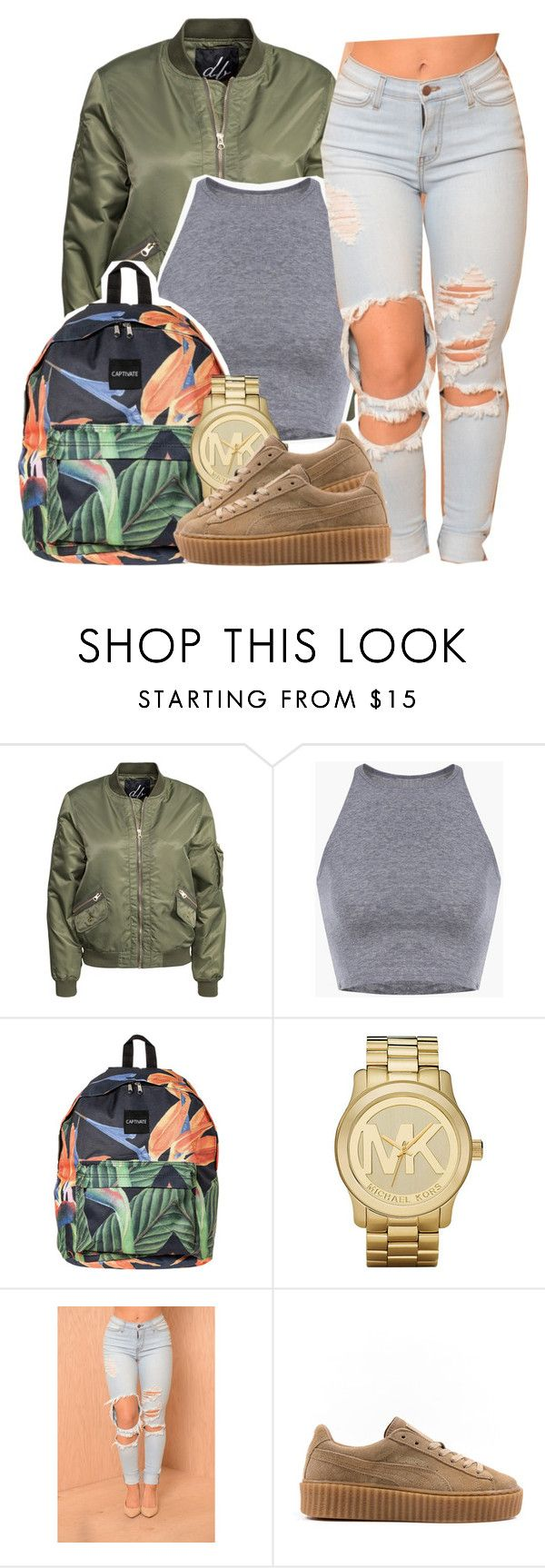"""""""Sorry Not Sorry // Bryson Tiller"""" by ariangrant ❤ liked on Polyvore featuring D. Brand and Michael Kors"""