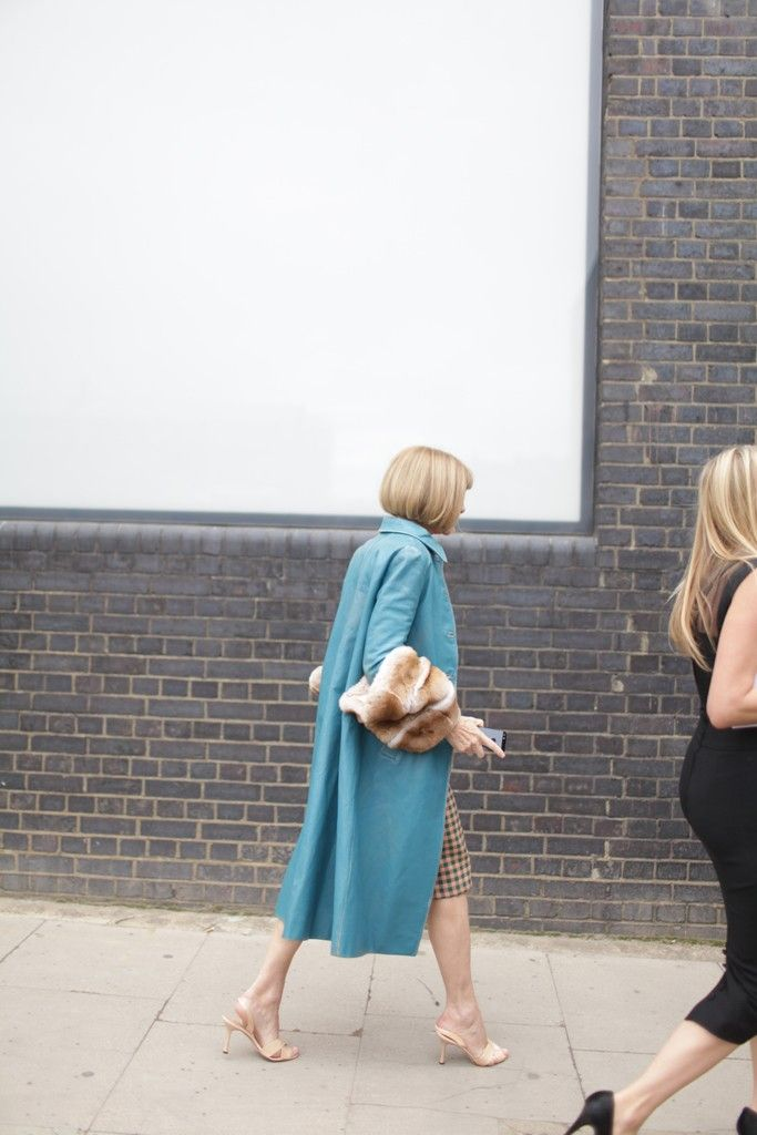 They Are Wearing: London Fashion Week // Anna Wintour could NOT be more fabulous. OMGahhh.