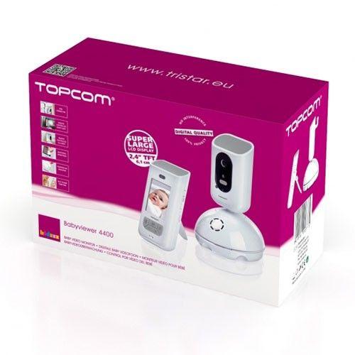 """Monitor video cu display LCD de ultimă generaţie (2,""""4"""""""")"""", 100% digital cu conector special la pătuţul bebeluşului."""