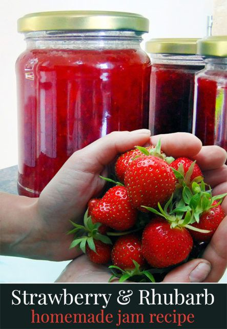 Recipe for soft-set strawberry and rhubarb jam. Rhubarb adds a ...