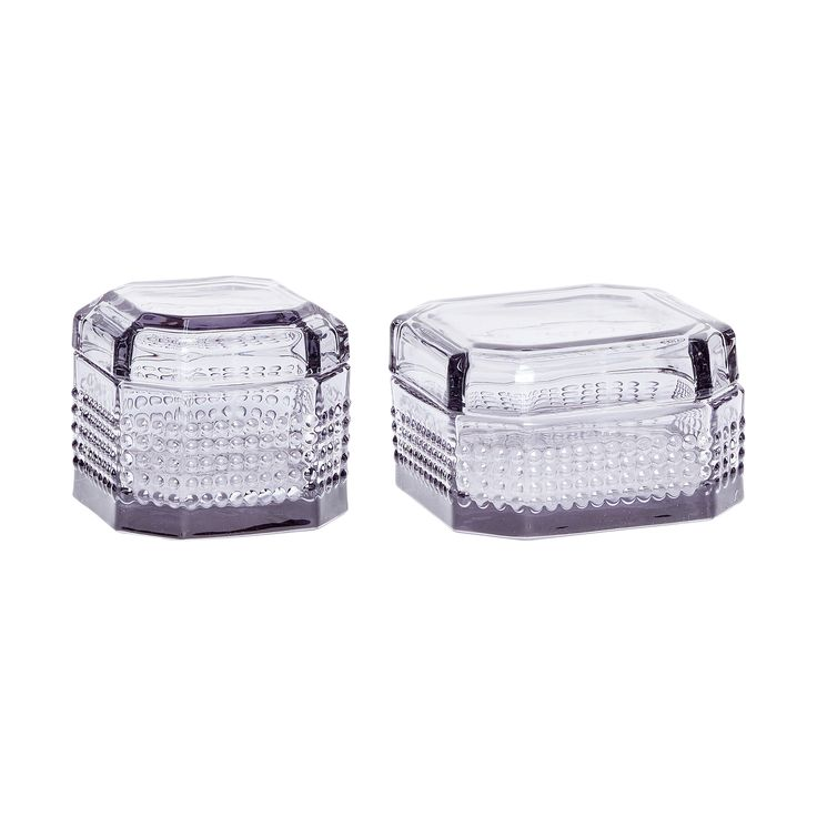Grey glass jar with lid. Product number: 660317 - Designed by Hübsch